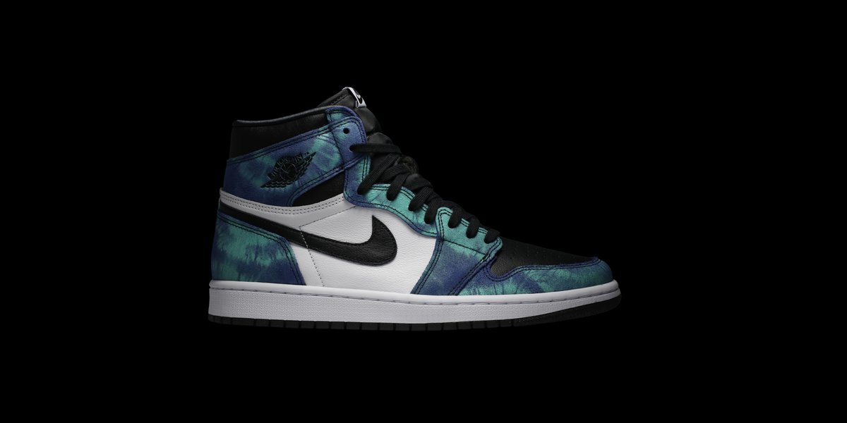 Since 1985, the Air Jordan 1 has seen countless colorways but never with a tie-dye graphic. This Wmns Air Jordan 1 Retro High OG is the first, utilizing an exclusive new dyeing process. Available on the app: https://t.co/LuIk3UQjJF https://t.co/16Uvkwrxd2