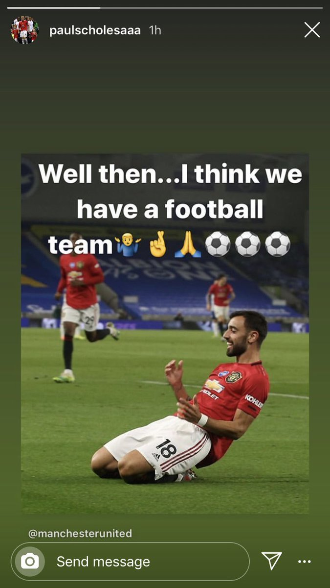 """Paul Scholes: """" Well then... I think we have a football team 🤷♂️🤞🙏 ⚽️⚽️⚽️"""" #MUFC [Instagram]"""