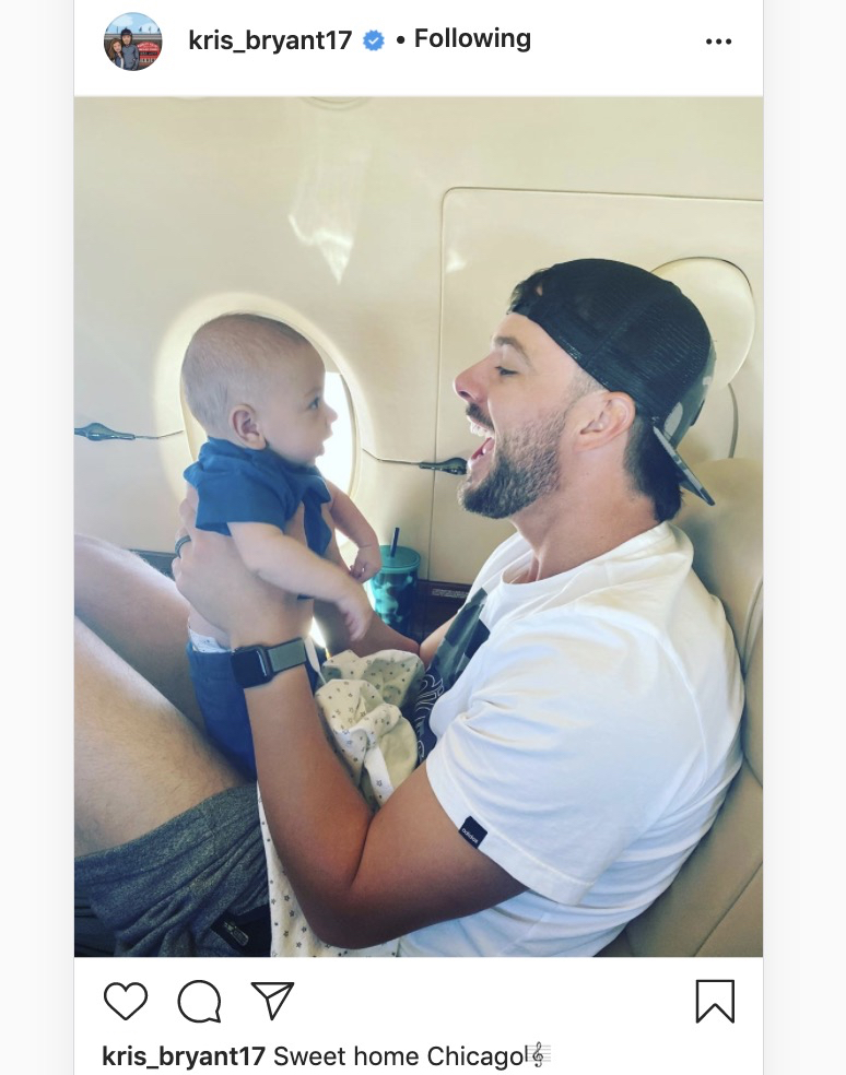 Kris Bryant and his little kiddo are on their way! #Cubs <br>http://pic.twitter.com/wl6Oxmb5zS