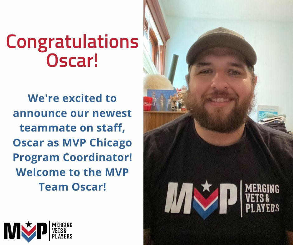 Join us in welcoming and congratulating our newest employee! Oscar Kush, a Marine Veteran, was a member of MVP LA & helped launch our Chicago Chapter. With his experience as both a combat veteran and former professional fighter, he brings great insight to the team! #MVP #Team