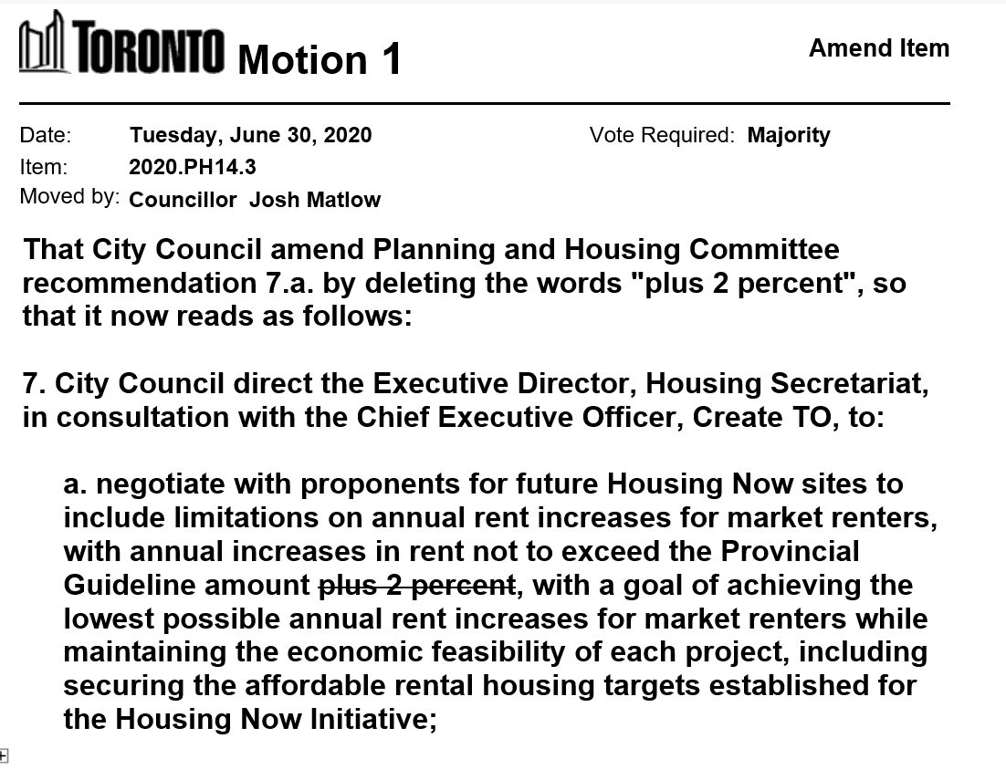 Councillor Matlow has moved a motion on Item PH14.3 -  Housing Now Initiative - Annual Progress Report https://t.co/Ws8RIvEU2n #tocouncil https://t.co/nqok3hxoJi