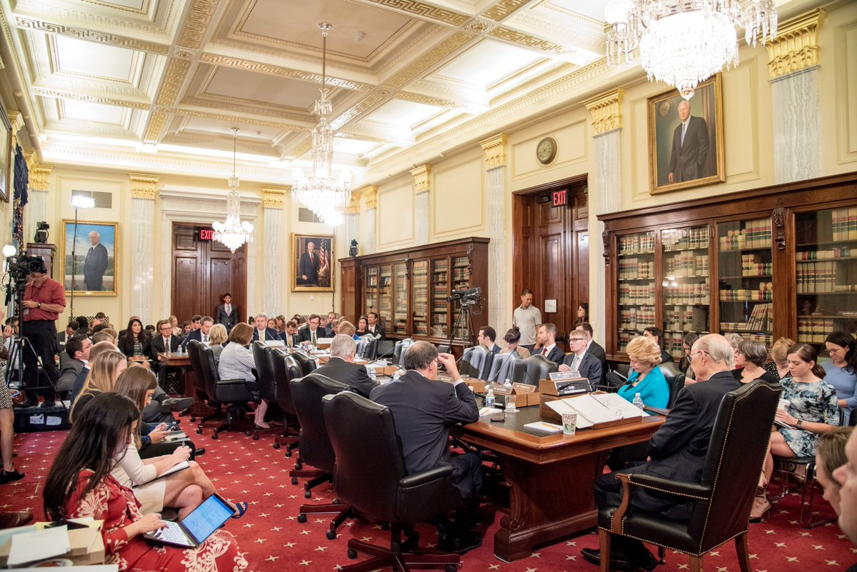 GOOD NEWS: #USMCA is officially entered into force.  Read more: https://t.co/AwAeDfzZBP.   📷: Sept. 2018 Ag Trade Hearing https://t.co/if2Z2Nfzrl
