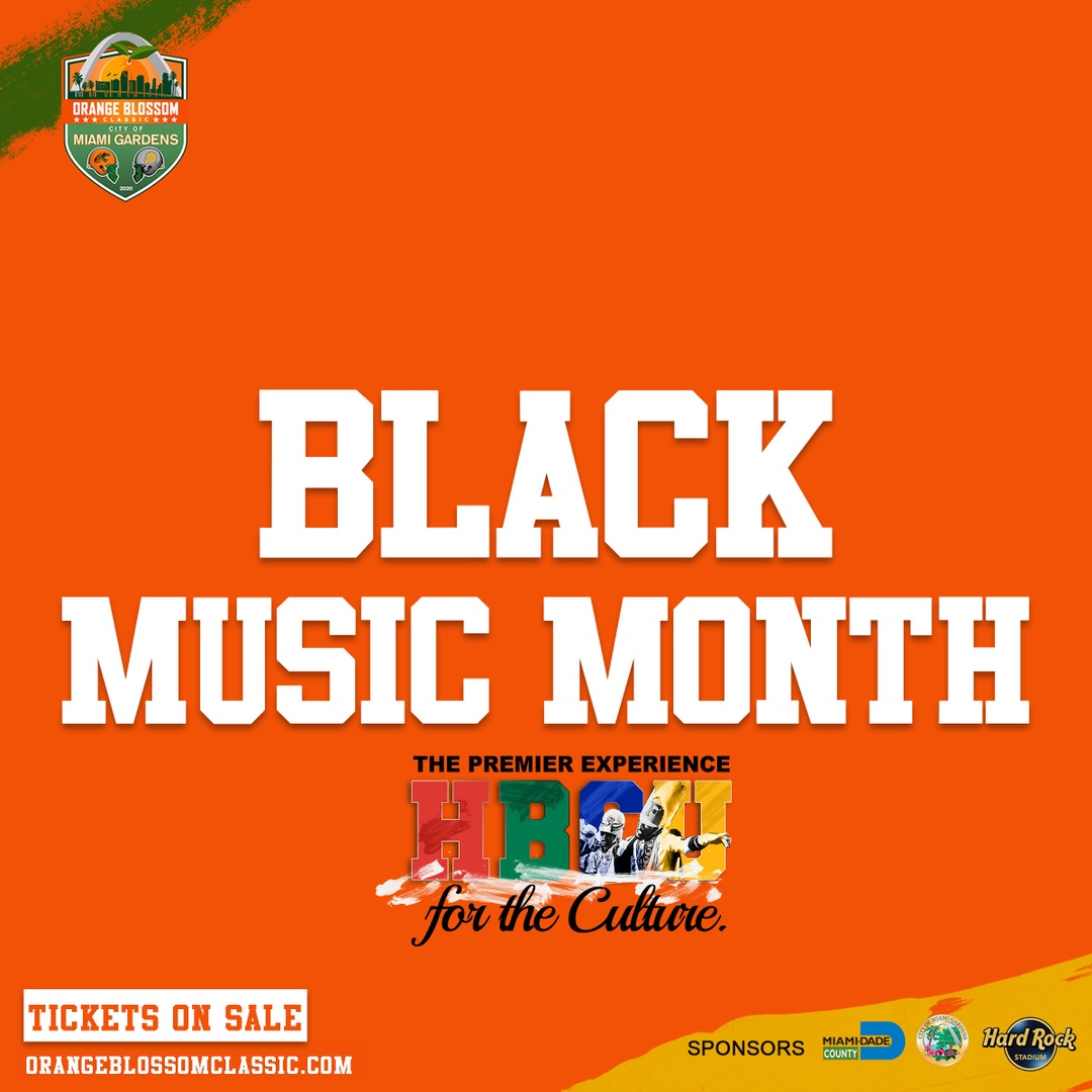 As a proud sponsor of Black Music Month, the Orange Blossom Classic continues to recognize HBCUs that produced the great artists, producers, and executives we see today.  #BlackMusicMonth #OneBigCommunity https://t.co/bJsUxDYpaC