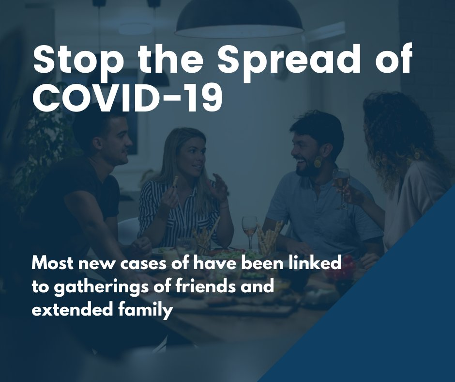 If you could help stop the spread of COVID-19, would you? Of course you would!  Recently, our contact tracers have found that most of the recent COVID-19 cases have come from individuals gathering w/ friends & family. Help stop the spread of COVID-19 - avoid in-home gatherings. https://t.co/1lDfdbBUn1
