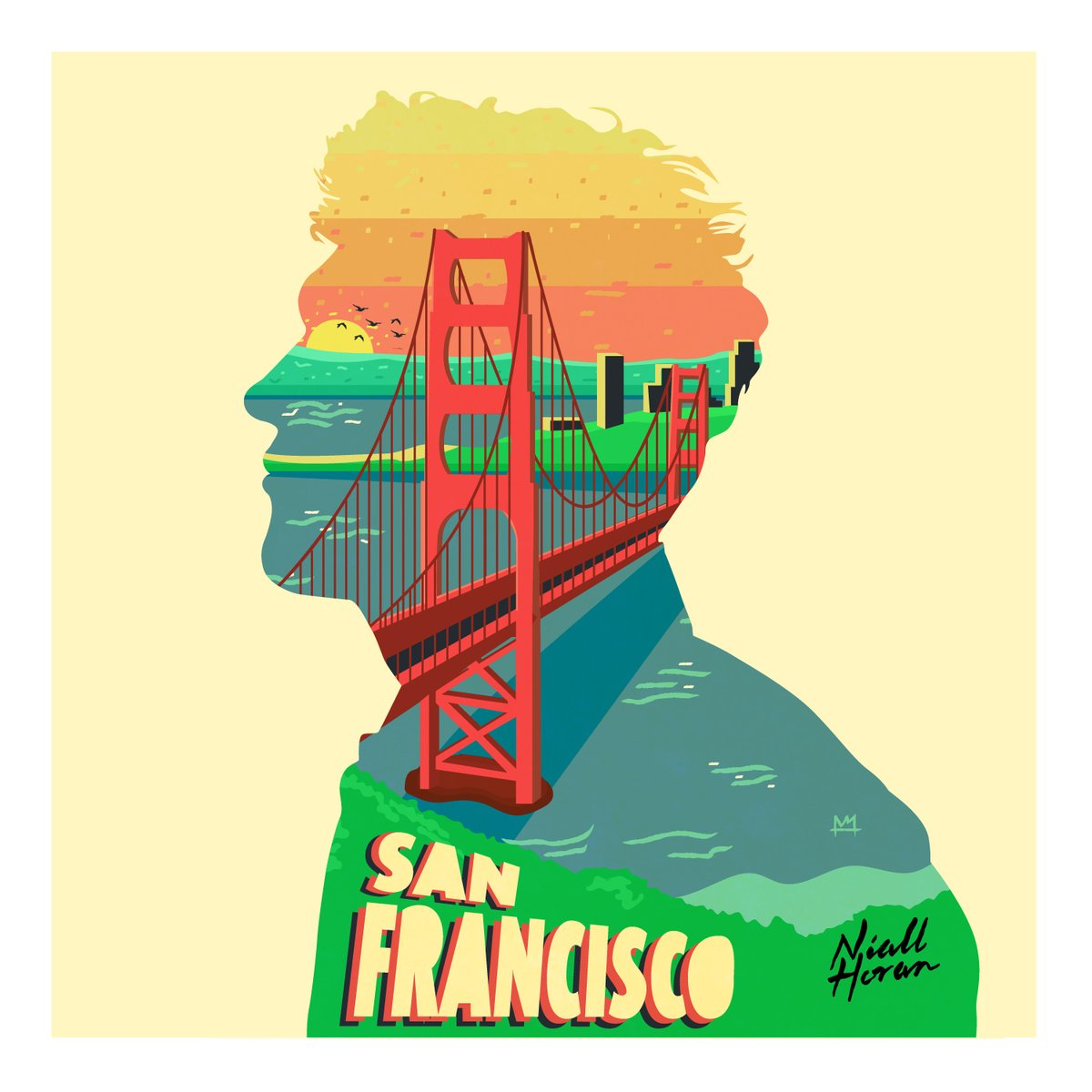 San Francisco Sunset ft @NiallOfficial and @talenthouse #HeartbreakWeather #SanFrancisco