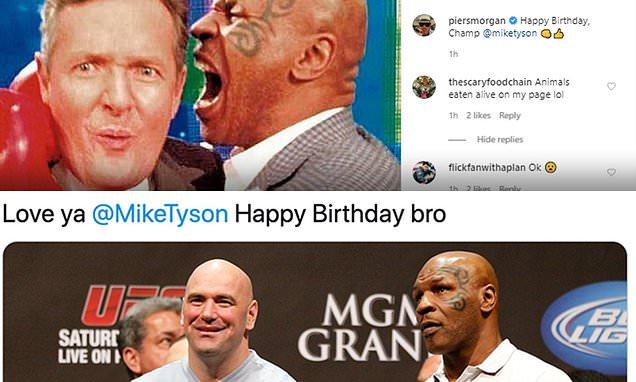 Piers Morgan and UFC chief Dana White wish Mike Tyson a Happy 54th Birthday