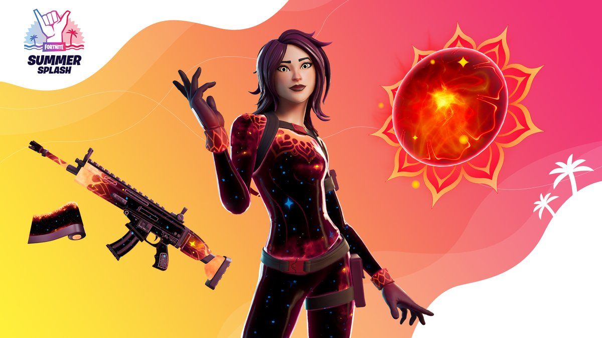 Stars always burn bright, yet this flare shines even brighter. Get the Space Fire Set in the Item Shop now!