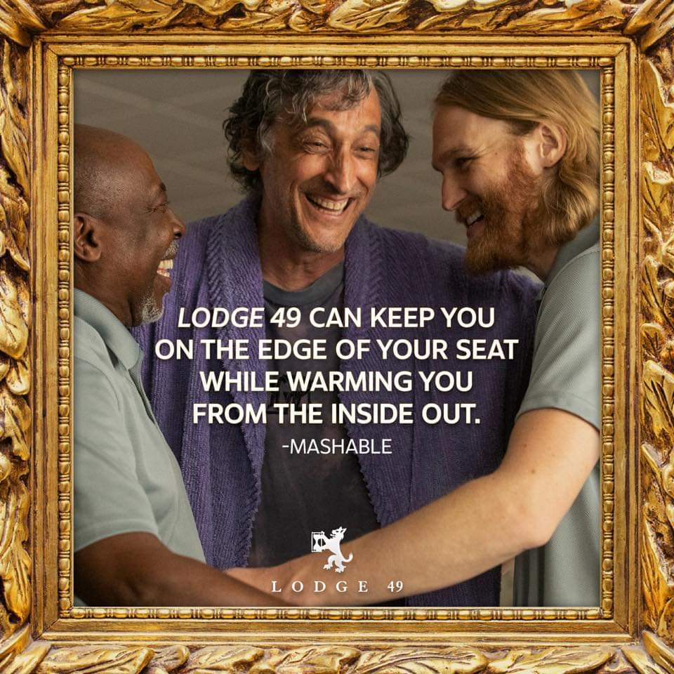 #Lodge49 is the only place that addresses the struggles of the common man in late stage capitalism, the power of community, the delicate balance of personal relationships, and the trauma and hope that guide us, all with great humor and beauty. Please give it all the #Emmys #FYC