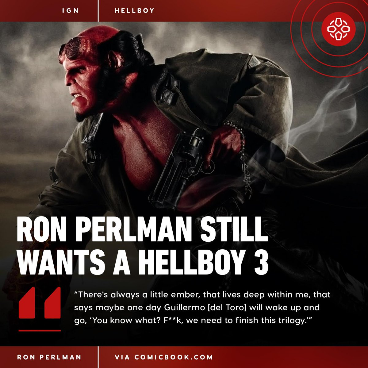 Ron Perlman says he hasn't seen the widely-panned Hellboy reboot starring David Harbour, though he was initially approached to star in it.