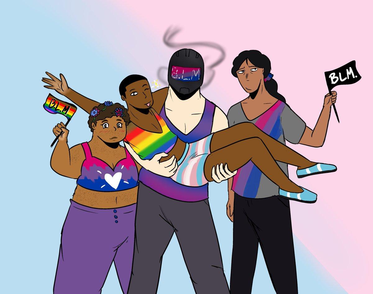 Black Lives Matter. Black Trans Lives Matter. Happy Pride!   It's the Flower Squad~  https://t.co/FWnsCgW5Vv https://t.co/TJQkr9dX0s