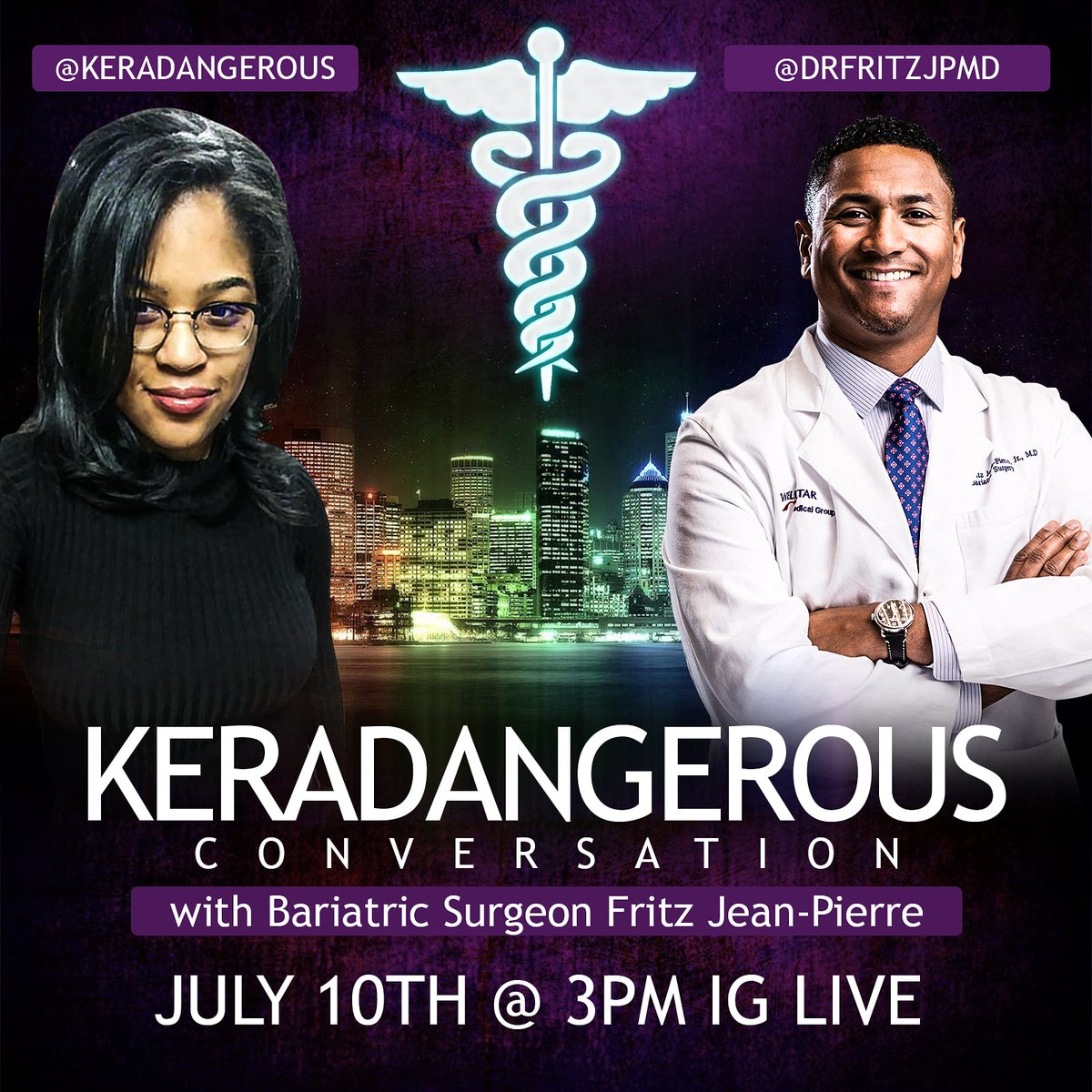 Please join me for my first IG Live Conversation that's apart of my Black History Series.I'll be talking to Bariatric Surgeon,Fritz Jean Pierre about disparities between black & white patients. IG Live July 10th @ 3pm.  #blm  #blackhealthmatters #blackdoctors #bariatric #Healthpic.twitter.com/UC9v2OiGVK