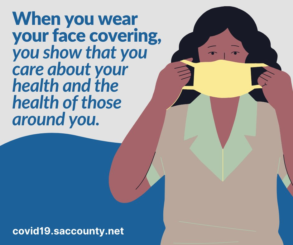 When you wear a face covering, you show that you care about your health and the health of those around you. https://t.co/vqIz99ILTd