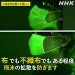 布だろうが不織布だろうがマスクはマスク!ある程度飛沫の拡散を防げることが確認‼