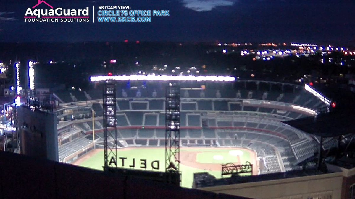 The lights are on again at Truist Park! Hopefully hat's a good sign of things to come! #Braves