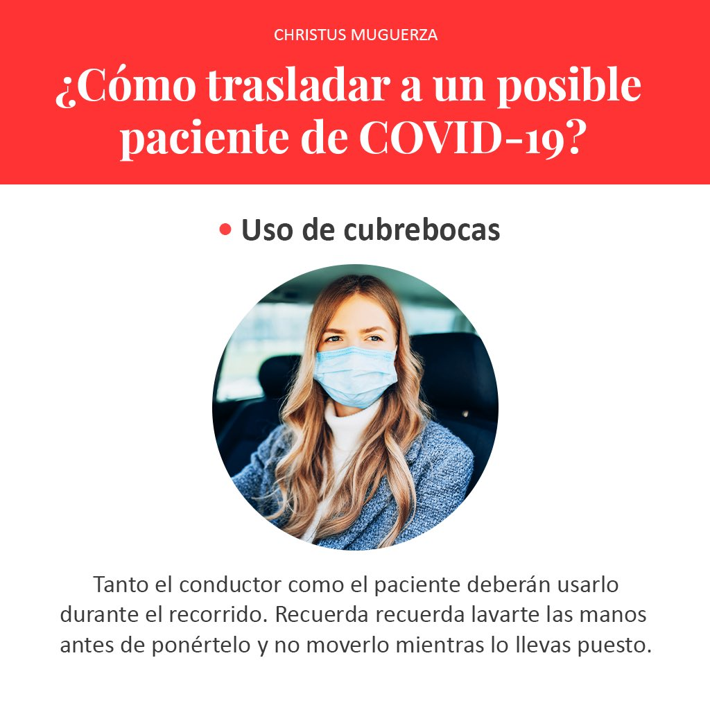 Trasladar en el automóvil a una persona con sospecha de COVID-19, incrementa el riesgo de contagio. Es por eso que durante el recorrido se deben seguir una serie de medidas de seguridad. https://t.co/K52zXmCRAk