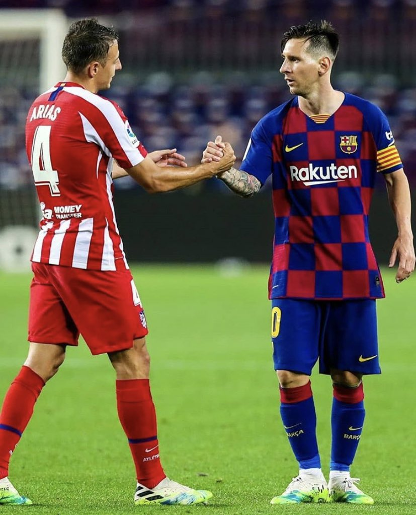 Lionel Messi & Arias 🤝 https://t.co/Y5jEDN09x5