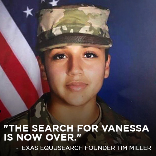 "Human remains were found during the search for missing Fort Hood Soldier #VanessaGuillen. The remains have not been officially identified but the founder of search and rescue group Texas EquuSearch said, ""The search for Vanessa is now over."" https://t.co/M0K3qZXamx https://t.co/QZ4D8RkwbQ"