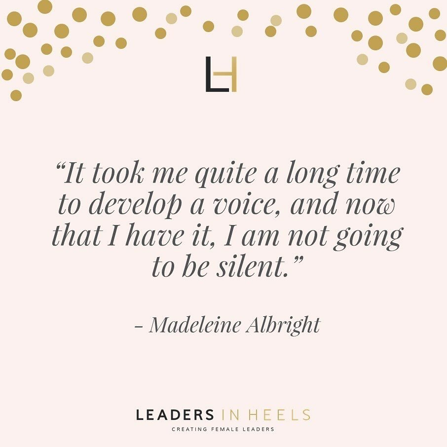 It's time to have your voice heard!  #LeadersInHeels #womaninbusiness #wordsofpower #quotesandsayings #empowermentquotes #staybossyladies #bestsaying #wordsofaffirmation #empoweringquotes #upliftingquotes #bosswoman #quoteslife #selfconfidencequotes #amb… https://instagr.am/p/CCFRECqpWNB/pic.twitter.com/RGzQyxTFIK