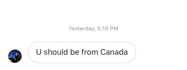 just going through the instagram dms real quick