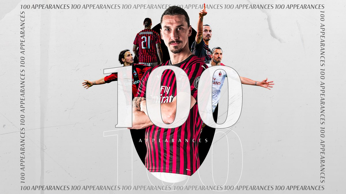 1⃣0️⃣0️⃣ has reached @Ibra_official  Non è Zlatan che fa 💯, è 💯 che fa Zlatan   #MilanParma #SempreMilan https://t.co/sQDuWLJM98