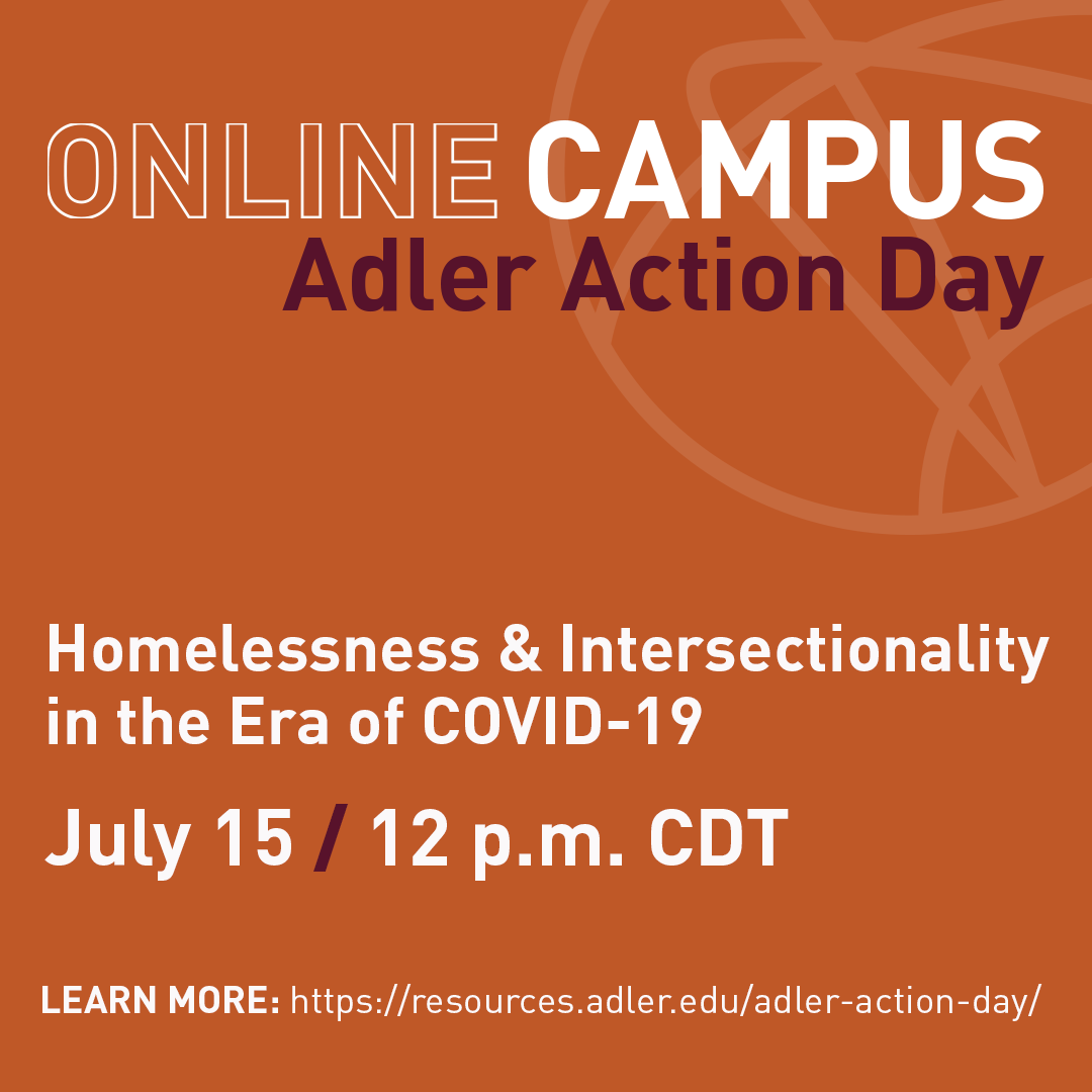 I have the honor of moderating this discussion today! Our panelists are professionals working to address issues related to individuals experiencing homelessness, followed by a call to action for the Adler University community. #ocadleractionday2020 https://t.co/34XYVLR26P
