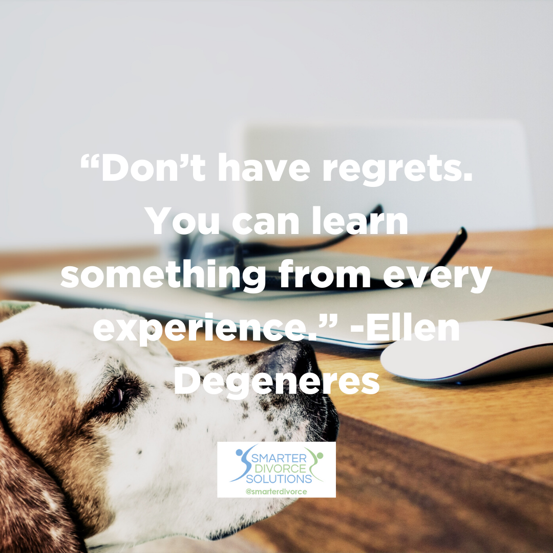 """""""Don't have regrets. You can learn something from every experience."""" Ellen Degeneres #smarterdivorcesolutions #divorcedonedifferently #divorce #mediation #cdfa https://t.co/n5m3ffQDN7"""