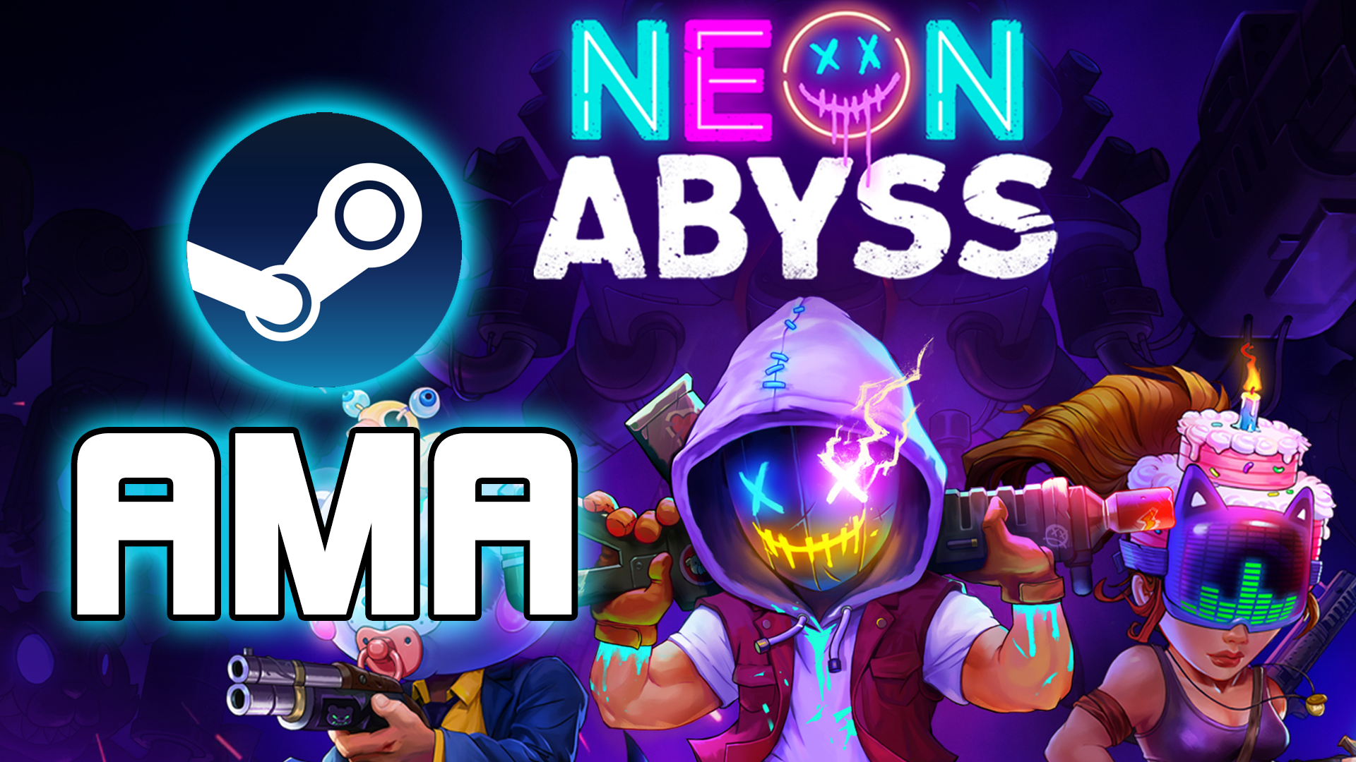 Neon Abyss On Twitter Abyssonauts We Re Now Live With A Q A Livestream On The Steam Page For 2 Hours Come Ask Us Anything Https T Co Q6xsjgqxiz Gamedev Indiedevhour Https T Co Iromko2fef