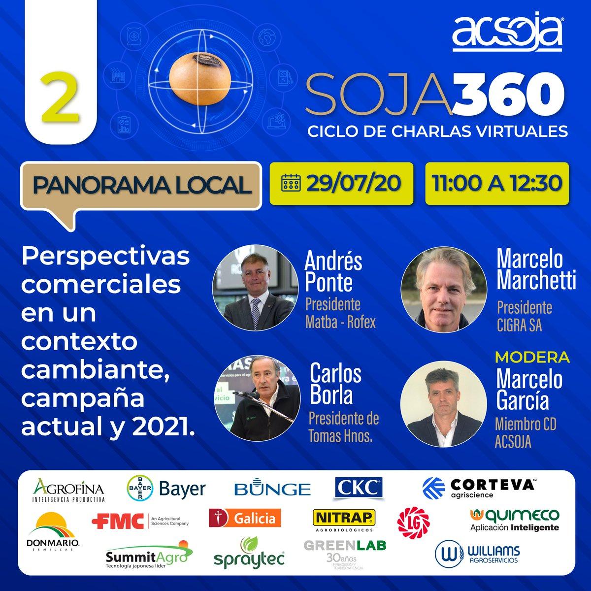 Ciclo de charlas virtuales ACSoja