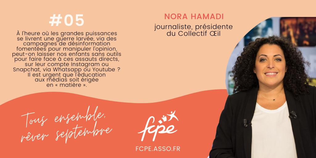 test Twitter Media - 10 personnalités = 10 idées pour bousculer la #RENTREE2020 ! La journaliste @NoraHamadi plaide pour la création de médias scolaires qui doivent permettre à chaque élève de produire ses propres récits ! https://t.co/9omNR0NYiA https://t.co/yYI5ELPfUY