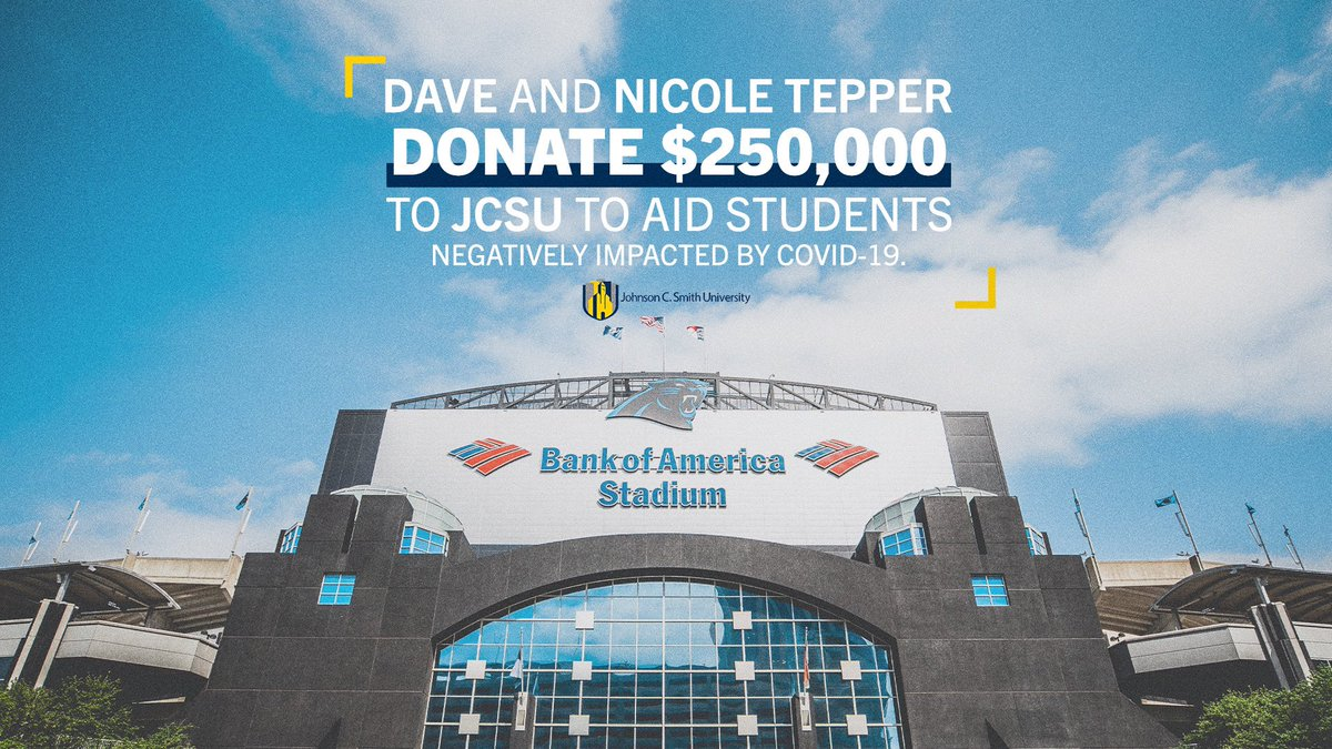 David and Nicole Tepper have contributed $250,000 to aid JCSU students as they overcome financial hardship caused by the COVID-19 pandemic. @Panthers https://t.co/JGlRrDxhnu