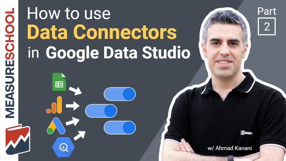 The data in Google Data Studio is often dynamic.  There are things called Data Connectors that can pipe in your data for you automatically.  Learn more about how they work in this next lesson. https://measureschool.com/course/google-data-studio-for-beginners/lesson-2/ …pic.twitter.com/2UnCLrtSEc