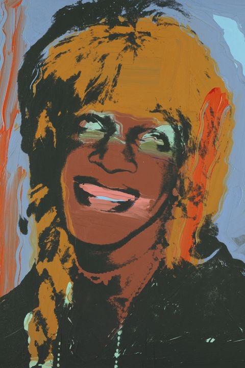 Retrato de la activista trans Marsha P. Johnson realizado por Andy Warhol.  #  ANDY WARHOL, LADIES AND GENTLEMEN (MARSHA P. JOHNSON), 1975, ACRYLIC AND SCREENPRINT INK ON CANVAS, 50 X 40 1/8 IN (127 X 101.8 CM), MUSEUM BRANDHORST, MUNICH. https://t.co/fDEScH4A5H