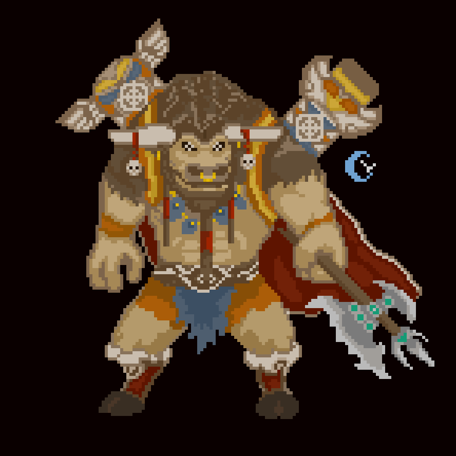 I'm new to #pixelart, I love #Warcraft, and #CairneBloodhoof is one of my favorite characters :Dpic.twitter.com/zKOAWGTguz