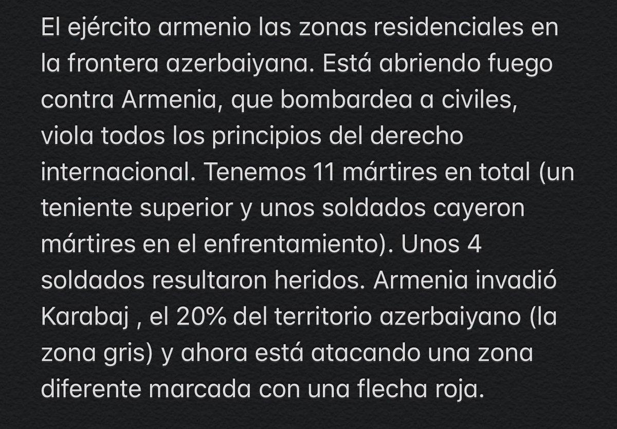 #EspanaEs #español #azerbaijan #Tovuz #KharabakhisAzerbaijan #StopArmenianOccupation #ArmenianAgression #LatinAmerica pic.twitter.com/jObKGzf7Bi