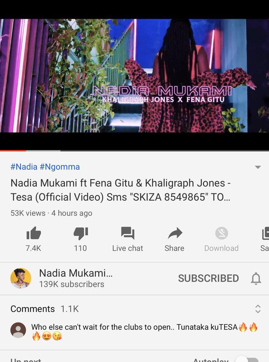 In Just 4 hours na tunatesa🔥🔥🔥🔥 Keep watching my brand new song featuring Fena Gitu & Khaligraph Jones youtu.be/cchaB6UcyT8