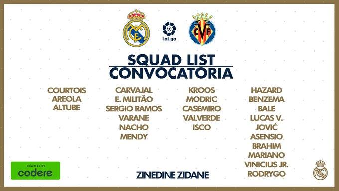 Ec-PI8LX0AAnWdH?format=jpg&name=small Zidane convoca a 24 jugadores para recibir al Villarreal - Comunio-Biwenger