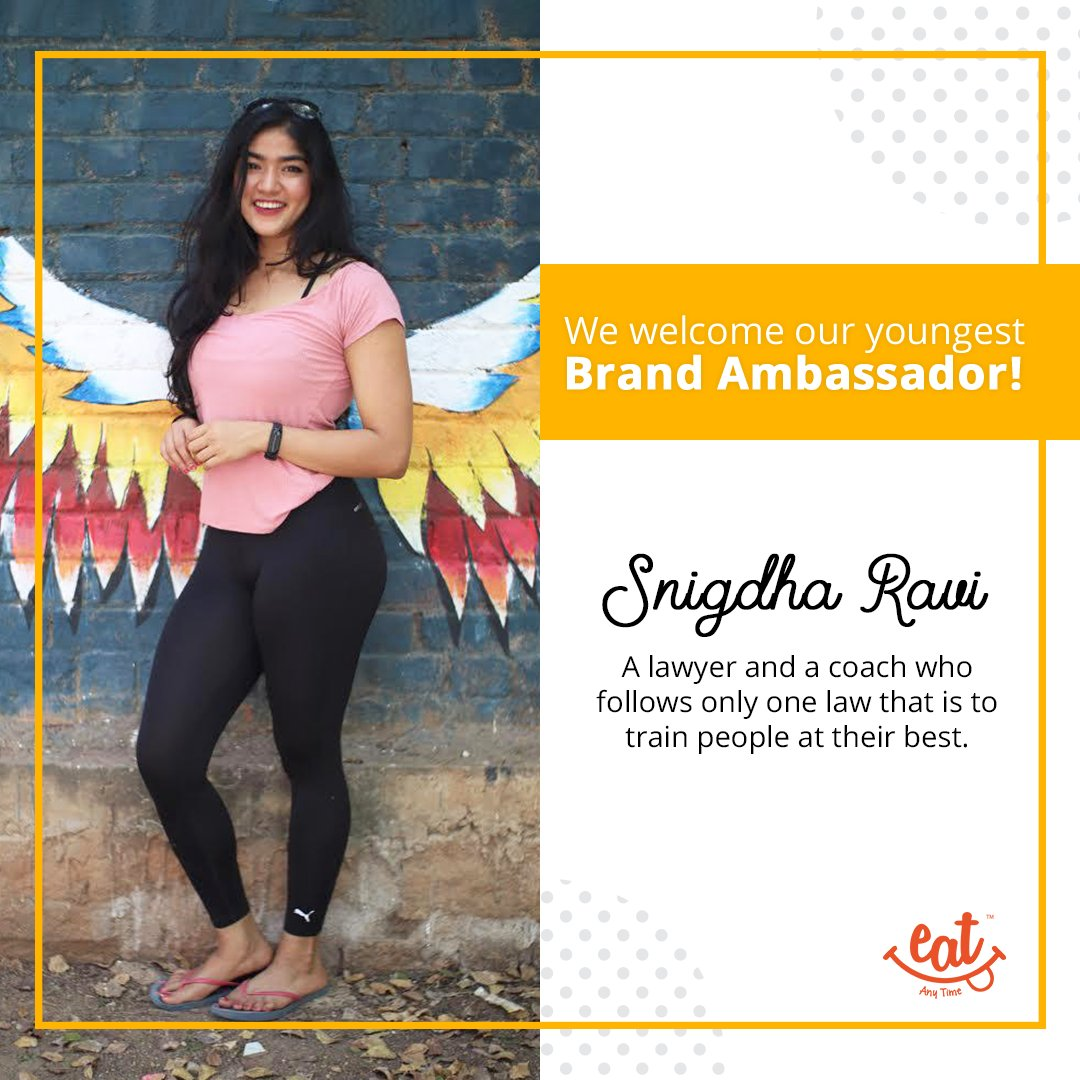 We are happy to announce that our youngest brand ambassador is Snigdha Ravi . We welcome you to the healthy eating family .  #BrandAmbassador #Snacks #MilletBars #ProteinBars #ProteinCookies #BeMindful #HealthyFood #HealthyLiving #HealthyLifestyle #Cookies #EatAnytimepic.twitter.com/FMwR57ROlw