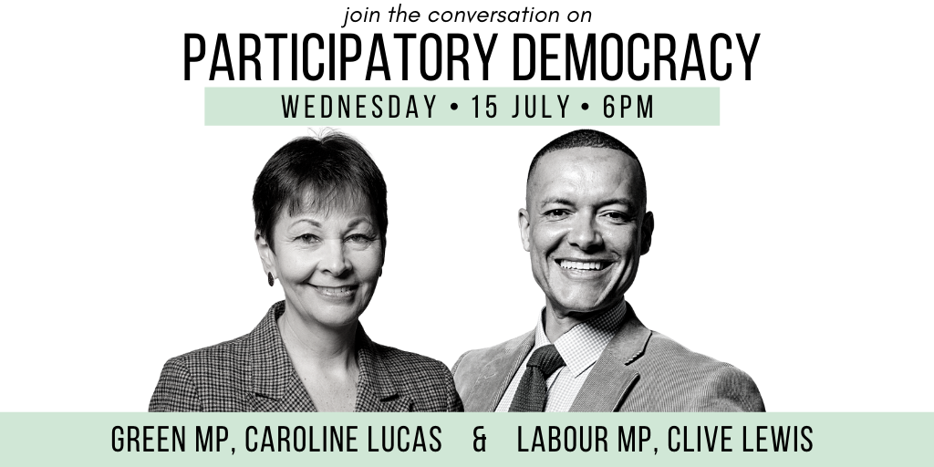 Join @CarolineLucas, @labourlewis and @Wera_Hobhouse  live at 6PM in conversation about @ResetUKLife and collaboration in our politics.    Join here: https://t.co/zKfwRxuhnH https://t.co/pmuYn1OIvO