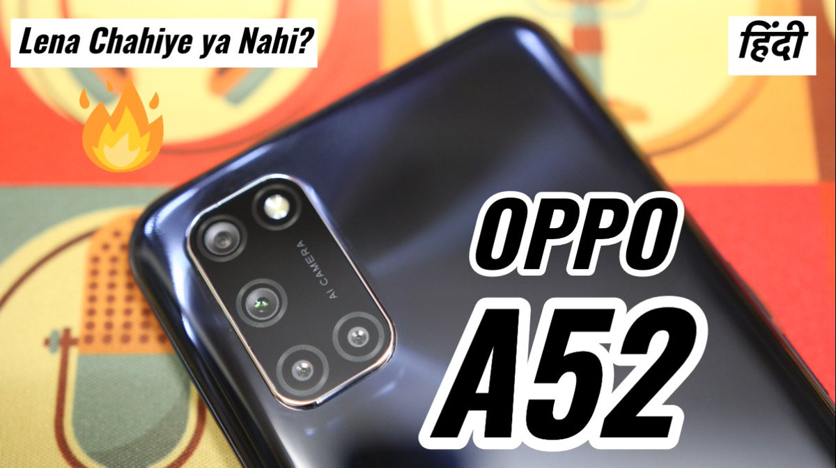 #NewVideo: Oppo A52 Overview: 17k me Lena Chahiye ya Nahi? https://t.co/7aN382Bh9R  @RaoSumukh @techpp #OppoA52  RTs appreciated :) https://t.co/QP8Ff0Jusi