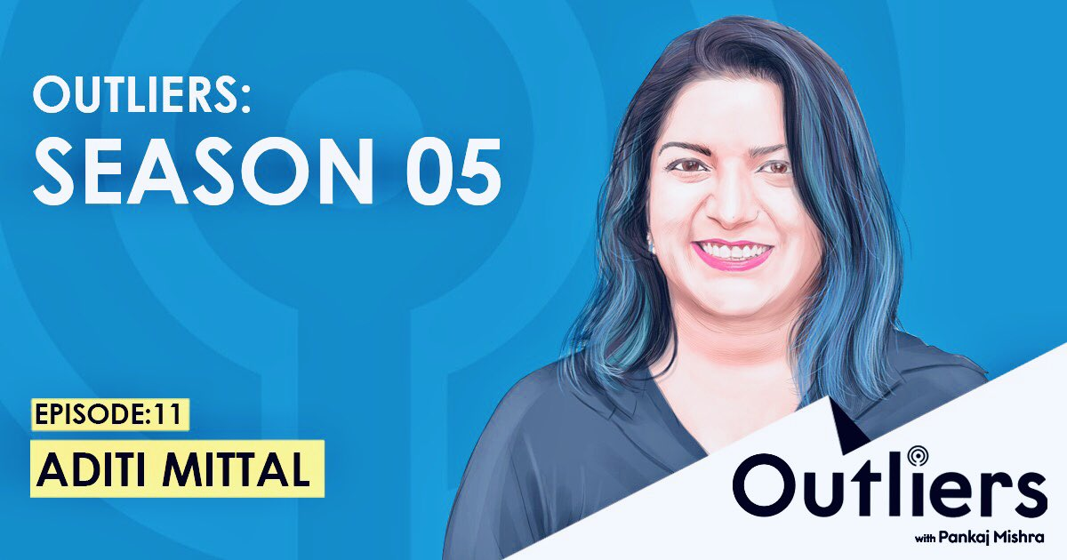 In this week's Outliers podcast @factordaily publishing on Friday, I try and get inside @awryaditi 's mind and make sense of her journey with humor and all things edgy. Some life lessons for all of us.   Tune in this Friday 🙏 https://t.co/YkZ39D8G4Q