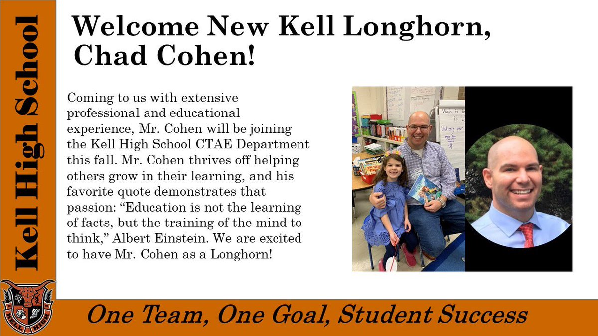 Welcome to Kell @ChadECohen and Ms. Bolton!