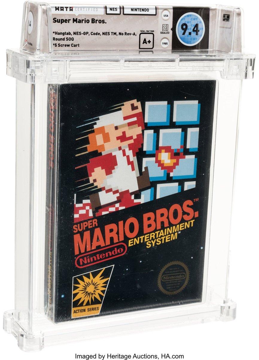 Rare Super Mario Bros. video game sells for record $114,000 itv.com/news/2020-07-1…