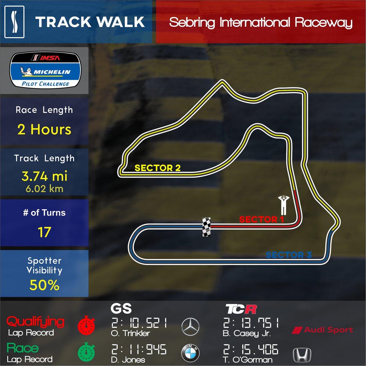 [SC Track Walk] Come with us for a lap of the 17-turn, 3.76 mile @sebringraceway   #Sebring #IMSA #GT4 #TCR #McLaren #AudiSport #TrackWalk https://t.co/mGaLHVvZTV