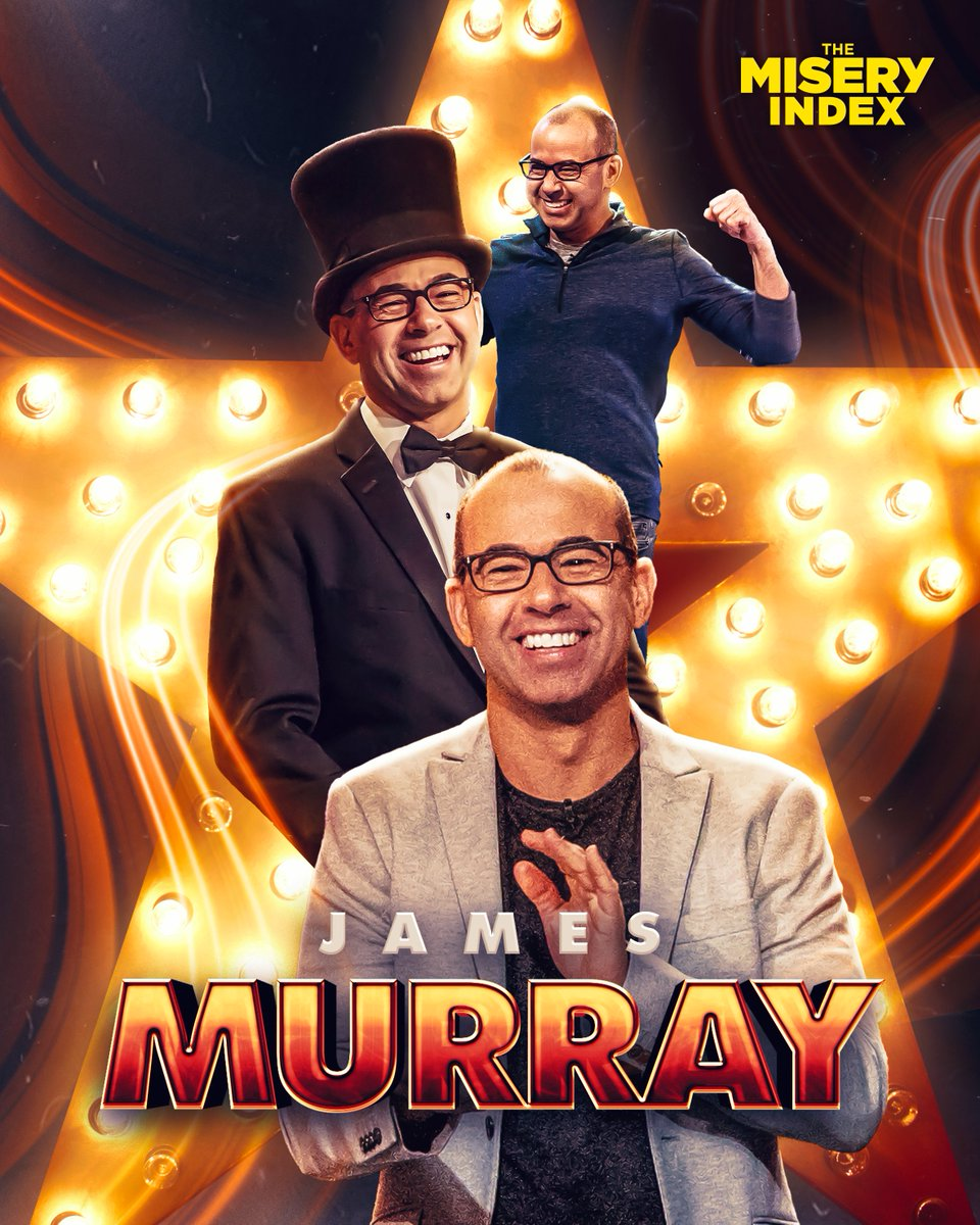 One more day until the @MiseryIndexTBS mid-season finale! Drop your favorite @jamessmurray memory here and be sure to tune in to a new episode of Impractical Jokers: Dinner Party tomorrow at 10/9c on @truTV followed by #TheMiseryIndex at 10:30/9:30c on @TBSNetwork! https://t.co/S0LFElcZj6