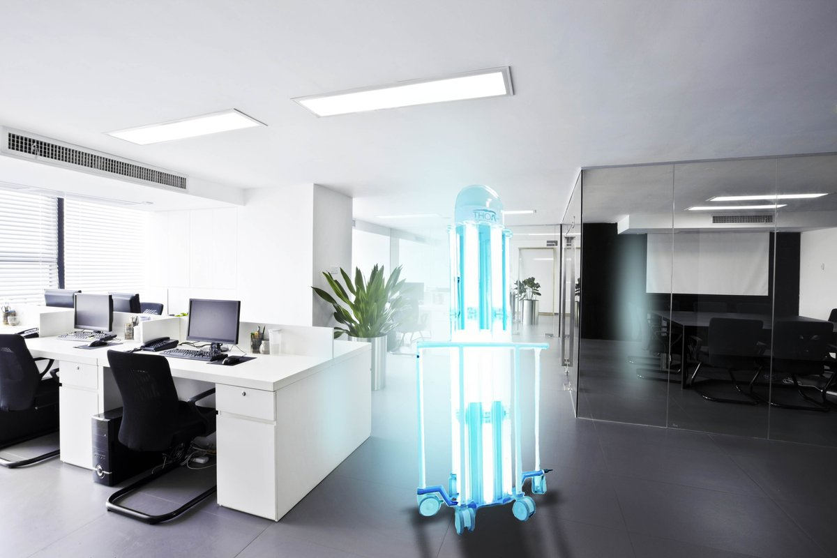 How do you ensure that your office environment is safe for your staff to work in? THOR UVC® is proven to kill COVID-19 and eliminates human error from your cleaning process, even areas in shadow receive the correct dose to be entirely safe. #uvcrobot #covid_19 #uvc #uvcleaning