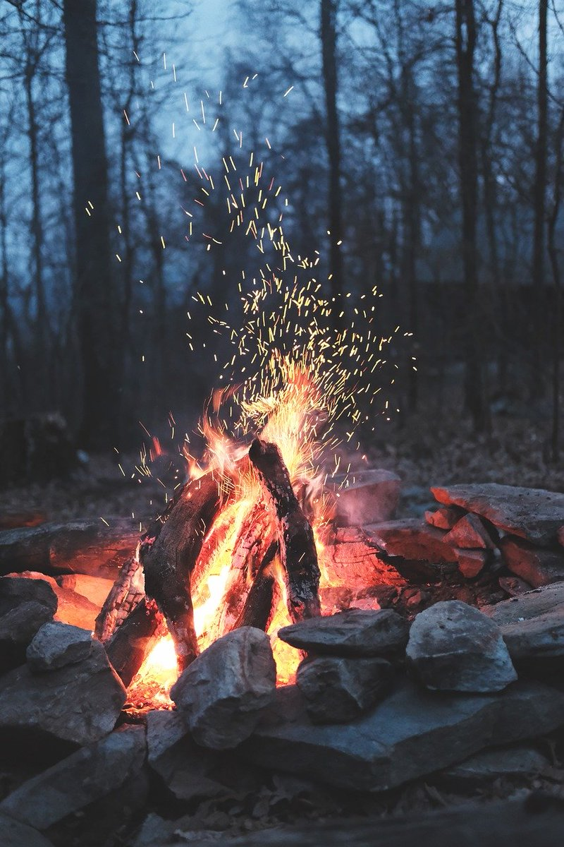 nature, fire, bonfire