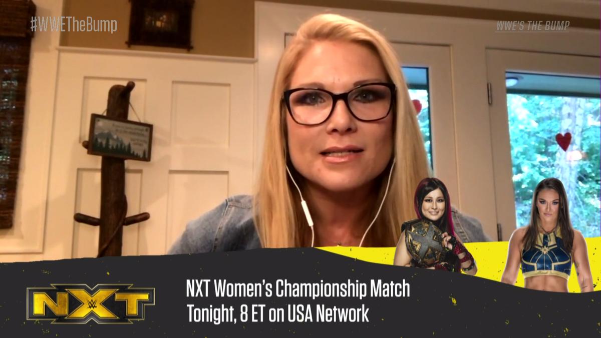 .@shirai_io puts the NXT #WomensTitle on the line against @TeganNoxWWE_ TONIGHT on #WWENXT...  Who ya got??  #WWETheBump https://t.co/6IeaoLnvL4