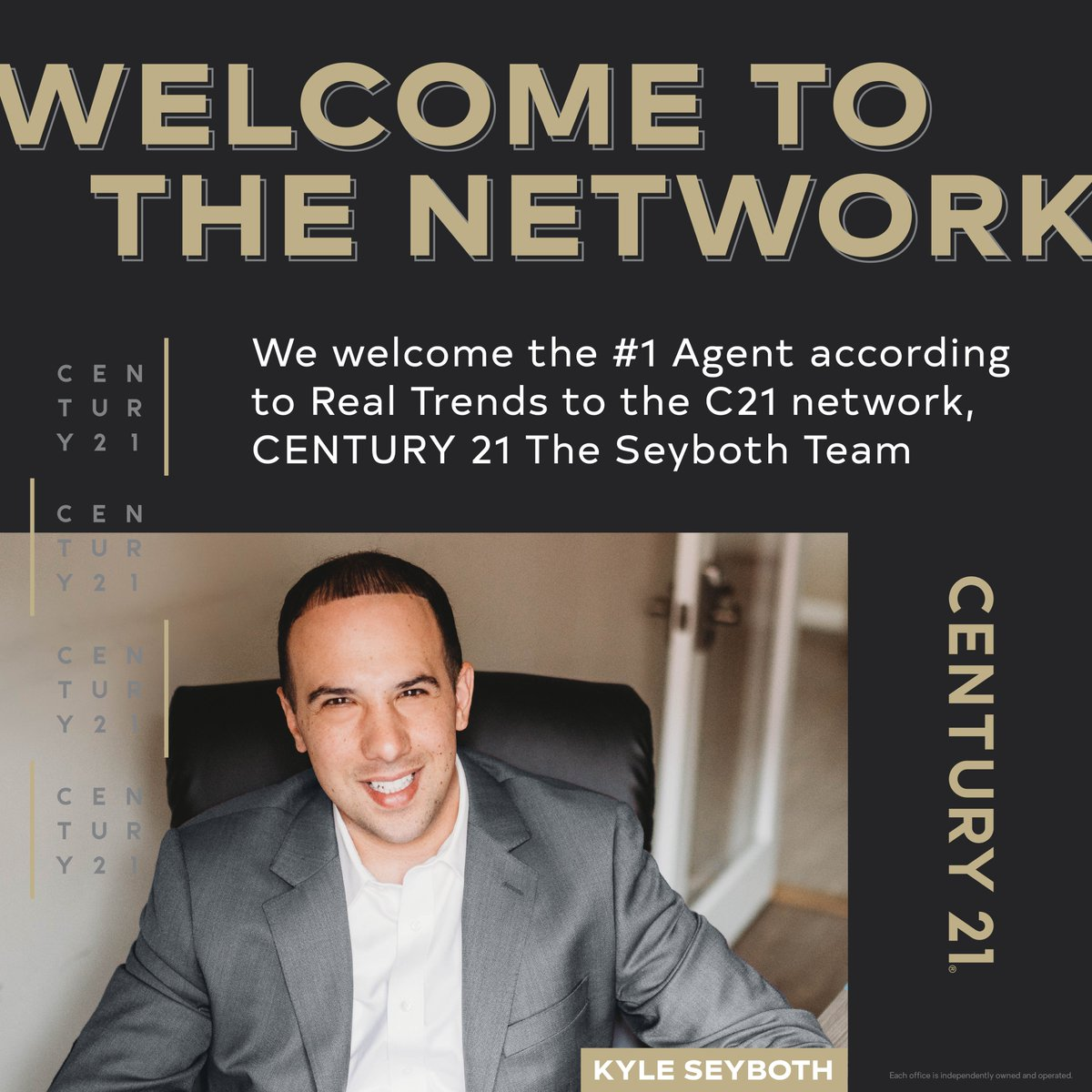 #C21Relentless, personified. Join us as we build momentum and welcome CENTURY 21 The Seyboth Team to the network! https://t.co/kS7fJocm8p