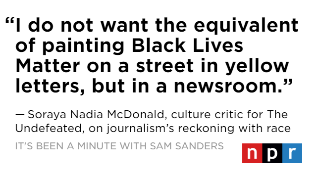 .@SorayaMcDonald has been thinking a lot about race and the news. So @samsanders asked her, as a Black journalist, what change does she want to see? ✅ Structural change within newsroom leadership ✅ Meaningful and honest news coverage of race 🔊 apple.co/3gWBs6U