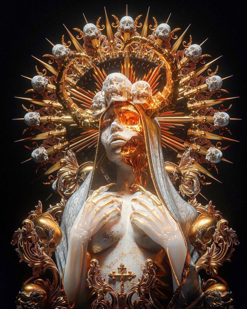 #OriginalContentArtist #PortfolioDay Gold, skulls, death and religion :)
